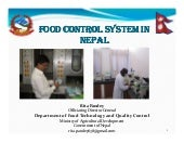 Food Control System Nepal