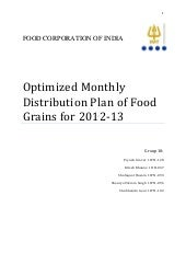 Food Grain(Supply Demand) Optimization