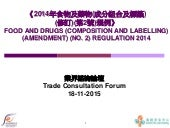 Food and Drugs Composition and Labelling Amendment No.2 Regulation_2015