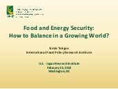 Food&energy security