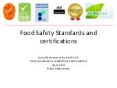 Food safety standards and certifica...