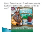 Food sovereignty and right to food