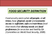 Food Security Definition