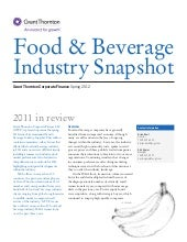 Food & Beverage Industry Snapshot
