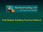 Food staples, retailing, food and t...