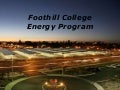 Foothill College Energy Program