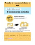 Footprint of E-Commerce Industry in India - 2013