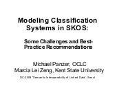 SKOS for Classification Systems