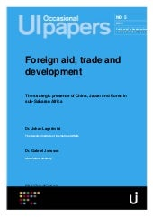 Foreign aid trade and development f...