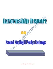 Intership Report on Foreign exchang...