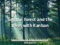 Forest and trees with kanban