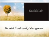Forest & Bio-diversity management