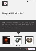 Open Forged Steel Products by Forgewell industries