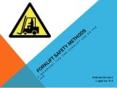 Forklift Safety Methods