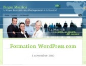 Formation word press   3 novembre 2010