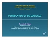 Formulation of biologicals