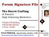 Forum Signature File: Forum Marketi...