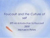 Foucault and the culture of self