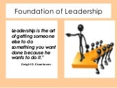 Foundation of Leadershp