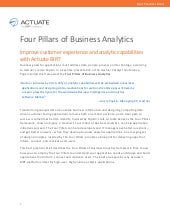 Four Pillars of Business Analytics - e-book - Actuate