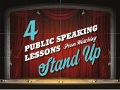 Four Public Speaking Tips From Standup Comedians