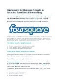 Foursquare for business, a guide to location based social networking