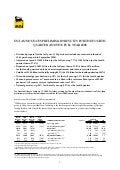 Eni preliminary results for the fourth quarter and  full year 2008