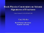 Seismic signature of Fractures