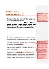 Fragmento del veredicto mamarracho