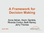 Framework for Decision Making-NeVC2010
