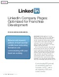 Franchising World: Linked in Company Pages Optmized for Franchise Development By Nicole Hudson and Ryan Vaspra