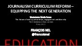 Journalism curriculum reform - equipping the next generation