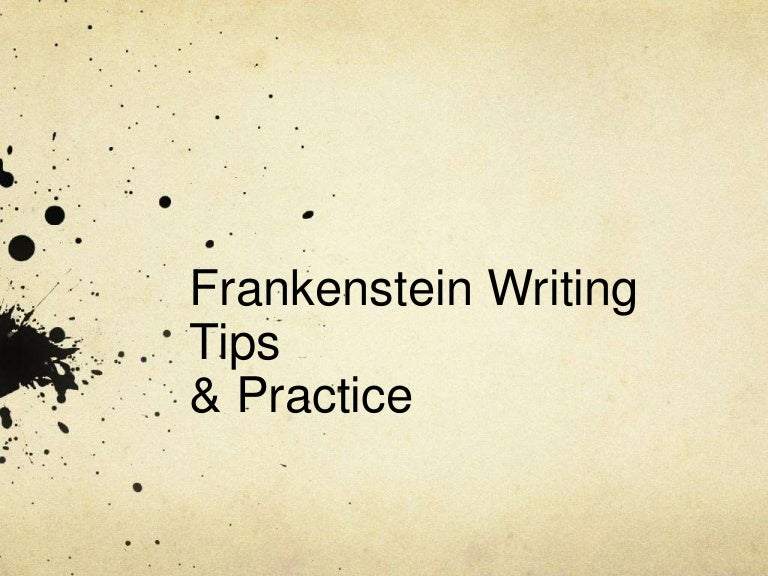 What are some main points for a Frankenstein essay?
