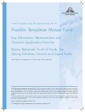 Franklin india tax shield applicati...