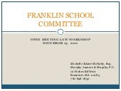 Franklin School Committee: Open Mee...