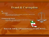 Fraud & corruption