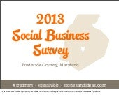 FredNMT 2013 Social Business Survey