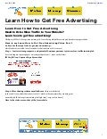 Learn How to Get Free Advertising