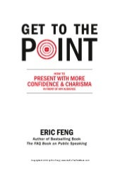 Free Chapter  - Get to the Point