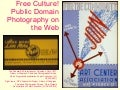Free Culture! Public Domain Photography on the Web