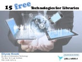 15 Free Technologies for Libraries