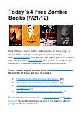 Today's 4 Free Zombie Books for the Kindle and Kindle Apps (July 21, 2012)