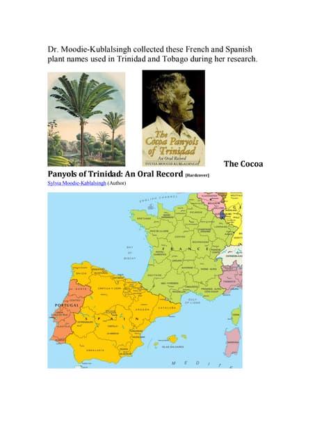French spanish creole plant names trinidad