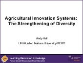 Agricultural Innovation Systems: Th...