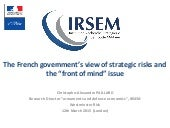 French view of strategic risks London March 2015 Westminster Risks