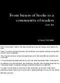 From Buyers Of Books To A Community Of Readers Presentation
