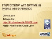 From desktop to mobile web