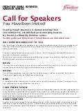 Frontier Small Business- Call for Speakers