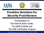 Frontline solutions For Security Pr...