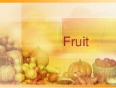 Fruit season and category